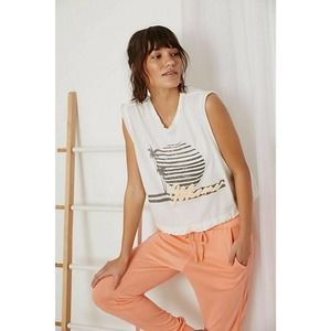 Free People Bring the Heat Graphic Tee Miami Combo